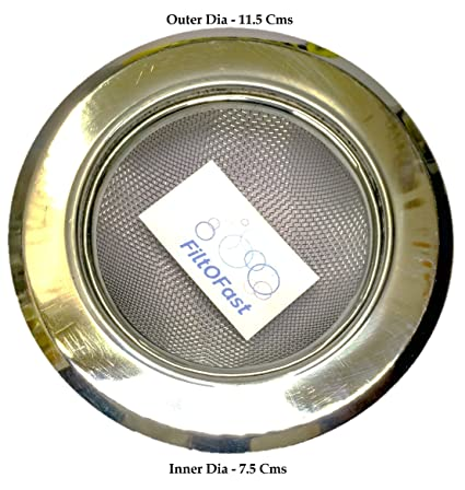 buy filtofast stainless steel sink drain filter silver online at