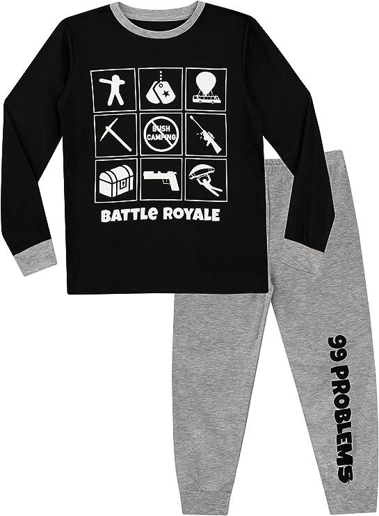 Black Soft and Warm Fleece Pyjama Onesie for Boys and Girls Fortnite Raven Costume