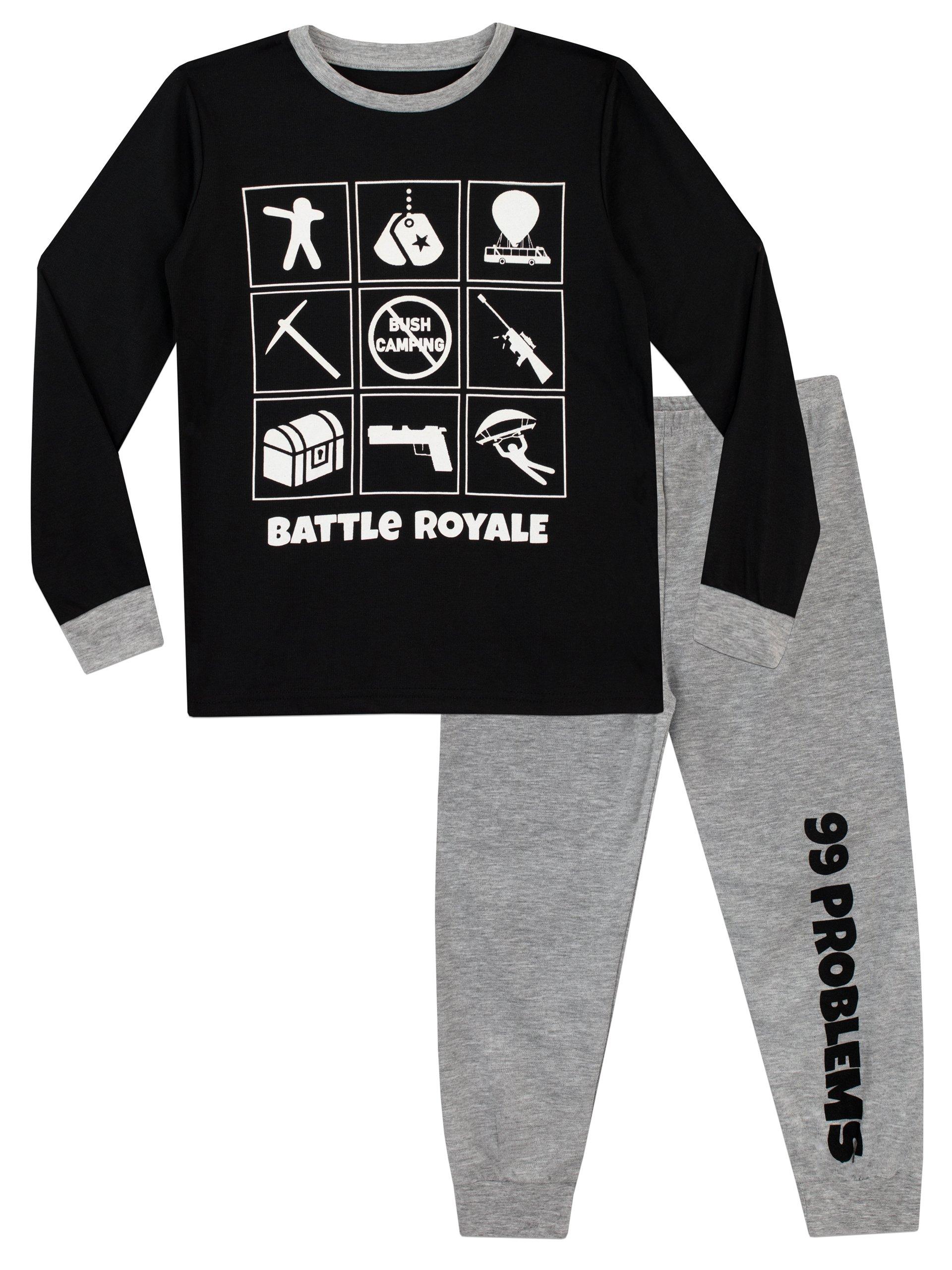 Battle Royale Boys' Fortnite Pajamas Size 16 Multicolored