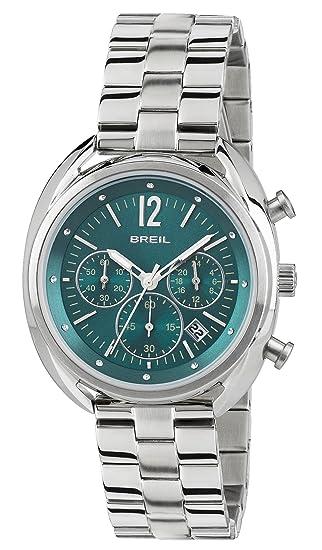 Breil Reloj Cronógrafo para Mujer de Cuarzo con Correa en Acero Inoxidable TW1677: Amazon.es: Relojes