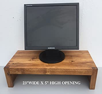Amazon Com Ideas To Home Tv Monitor Riser Stand Modern Rustic Style