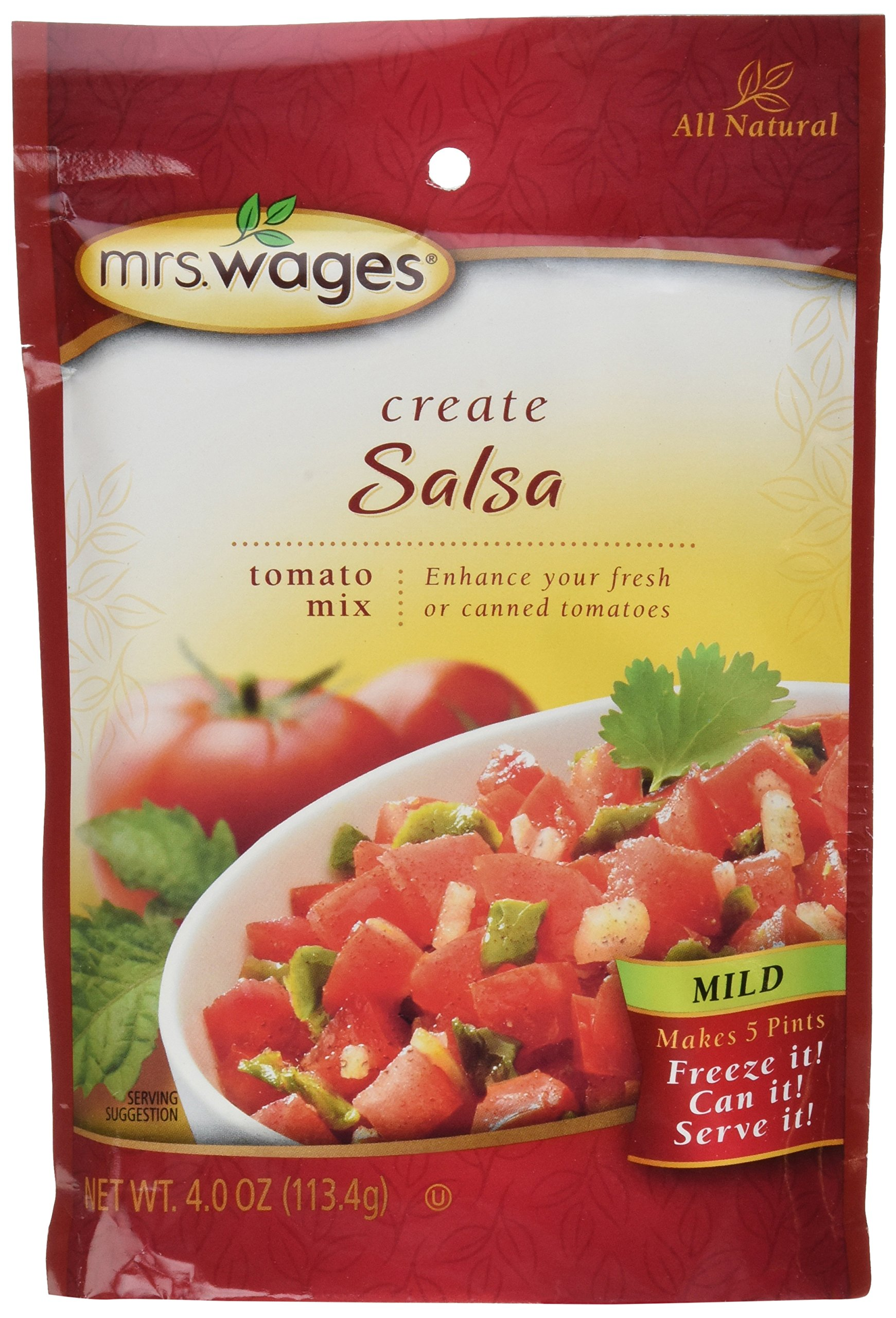 Mrs Wages Mild Salsa Mix-6 packages, 4oz each by Mrs. Wages
