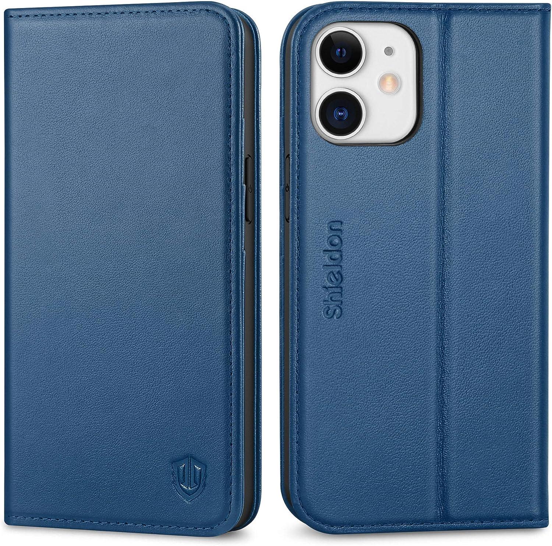 SHIELDON Case price for iPhone 12 Genuine Wallet Fresno Mall Leather Mini RF