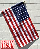 US Flag Factory 3'x5' US AMERICAN FLAG (Pole Sleeve) Outdoor SolarMax Nylon Flag (Embroidered Stars & Sewn Stripes) - Made in America