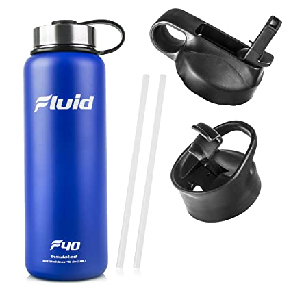 Amazon.com: Fluid Sports Botella para agua hecha de acero ...