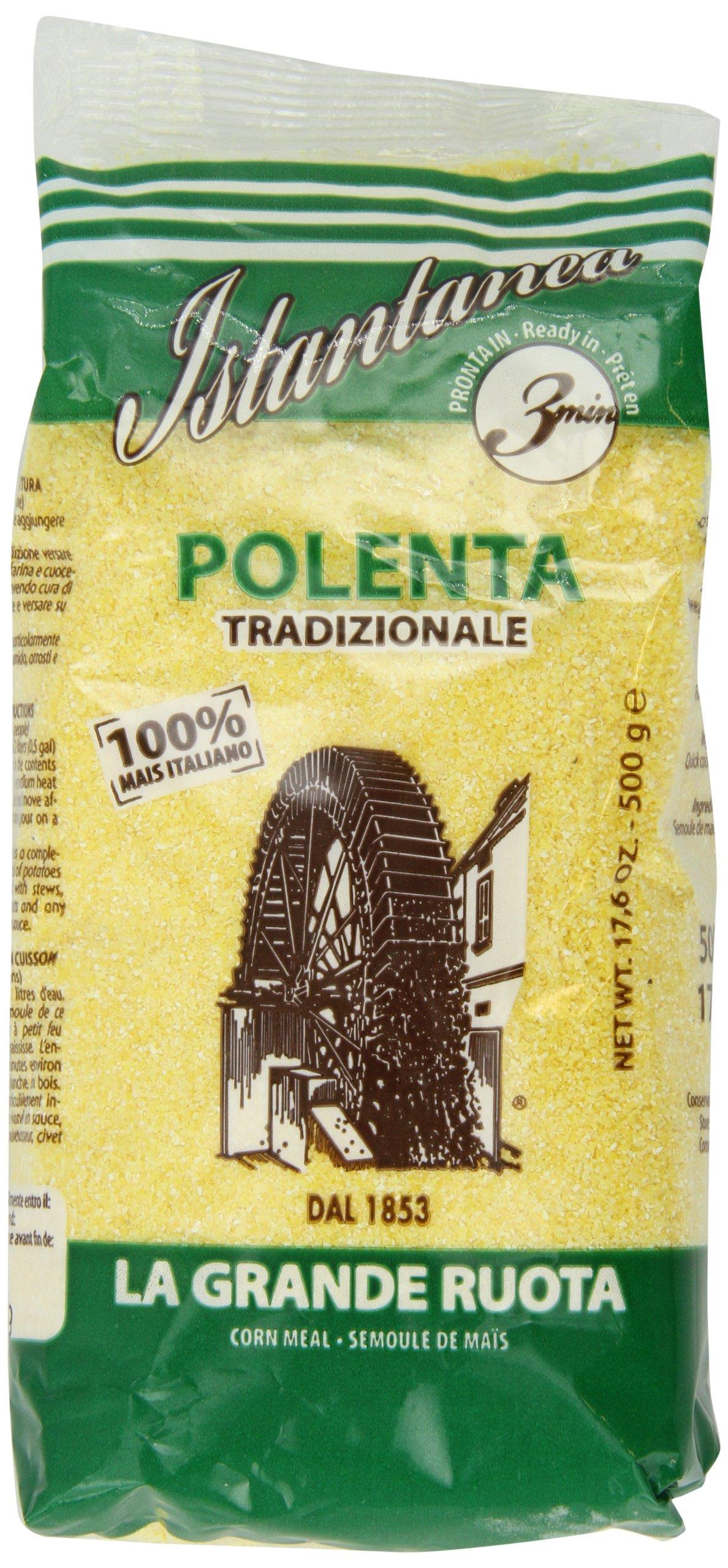 La Grande Ruota Istantanea Polenta Tradizionale, 3 Minute Quick Cooking, 17.6-Ounce (Pack of 5)
