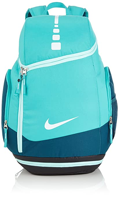 buy cheap 9311f bbd8d Amazon.com  Nike Hoops Elite Max Air Team Basketball Backpack Teal White   Sports   Outdoors