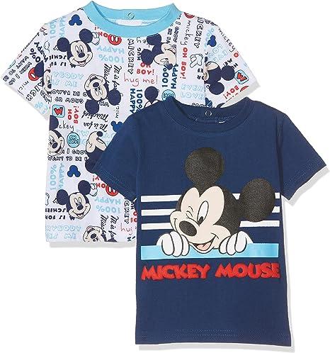 T Shirt Manches Courtes B/éb/é Gar/çon Mickey Mouse