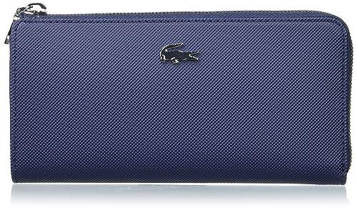 comprar baratas gran surtido a un precio razonable Lacoste NF2110DC, Cartera Mujer, Azul (Peacoat), 9.5 x 3 x ...