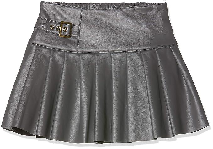 boboli Synthetic Leather Skirt For Girl, Falda para Niñas, Gris ...