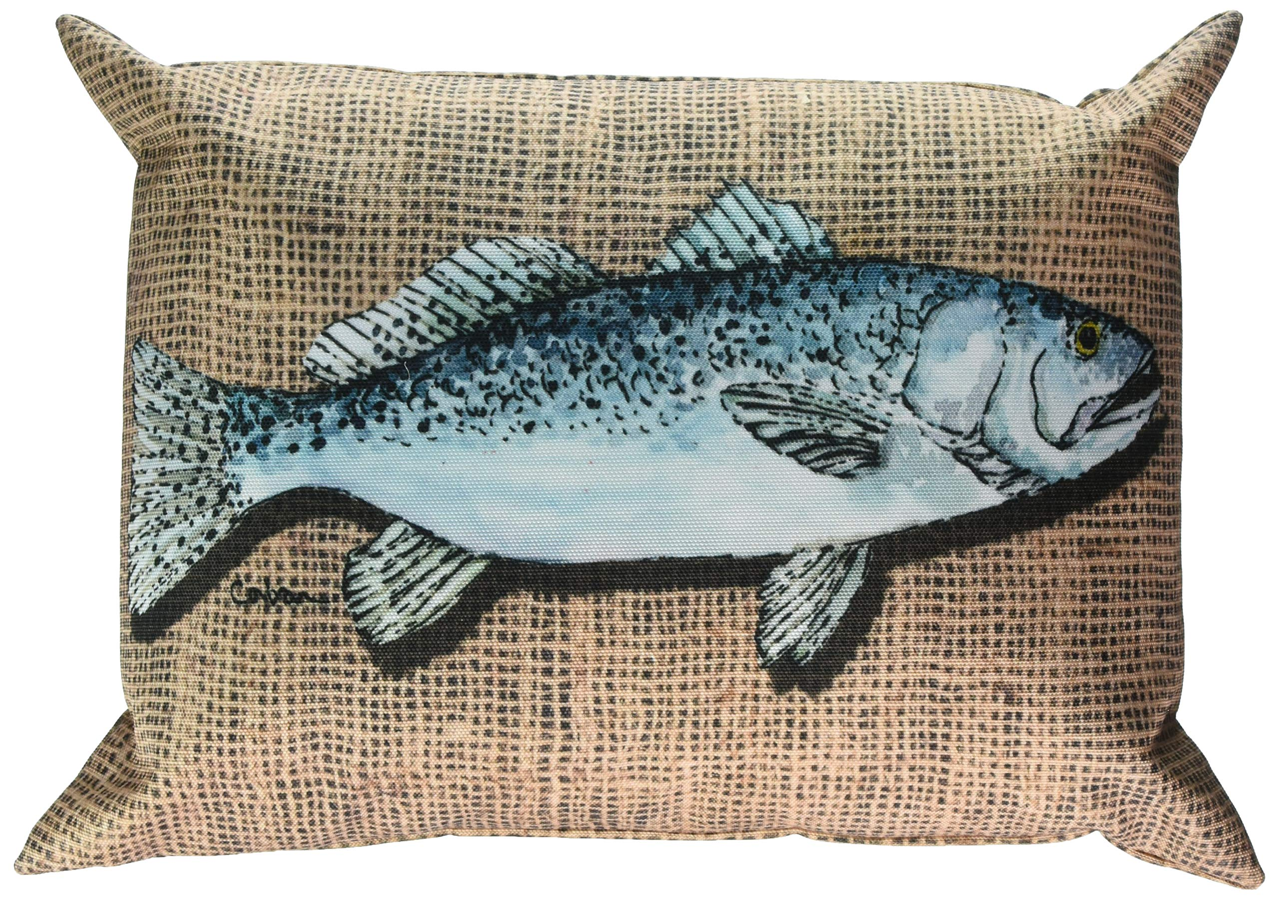 Caroline's Treasures 8737PW1216 Fish Speckled Trout Canvas Fabric Decorative Pillow, Large, Multicolor - Indoor or Outdoor Pillow from heavyweight canvas material 100% Polyester Fabric pillow Sham with pillow form Fade Resistant - patio, outdoor-throw-pillows, outdoor-decor - 91NGWtxartL -