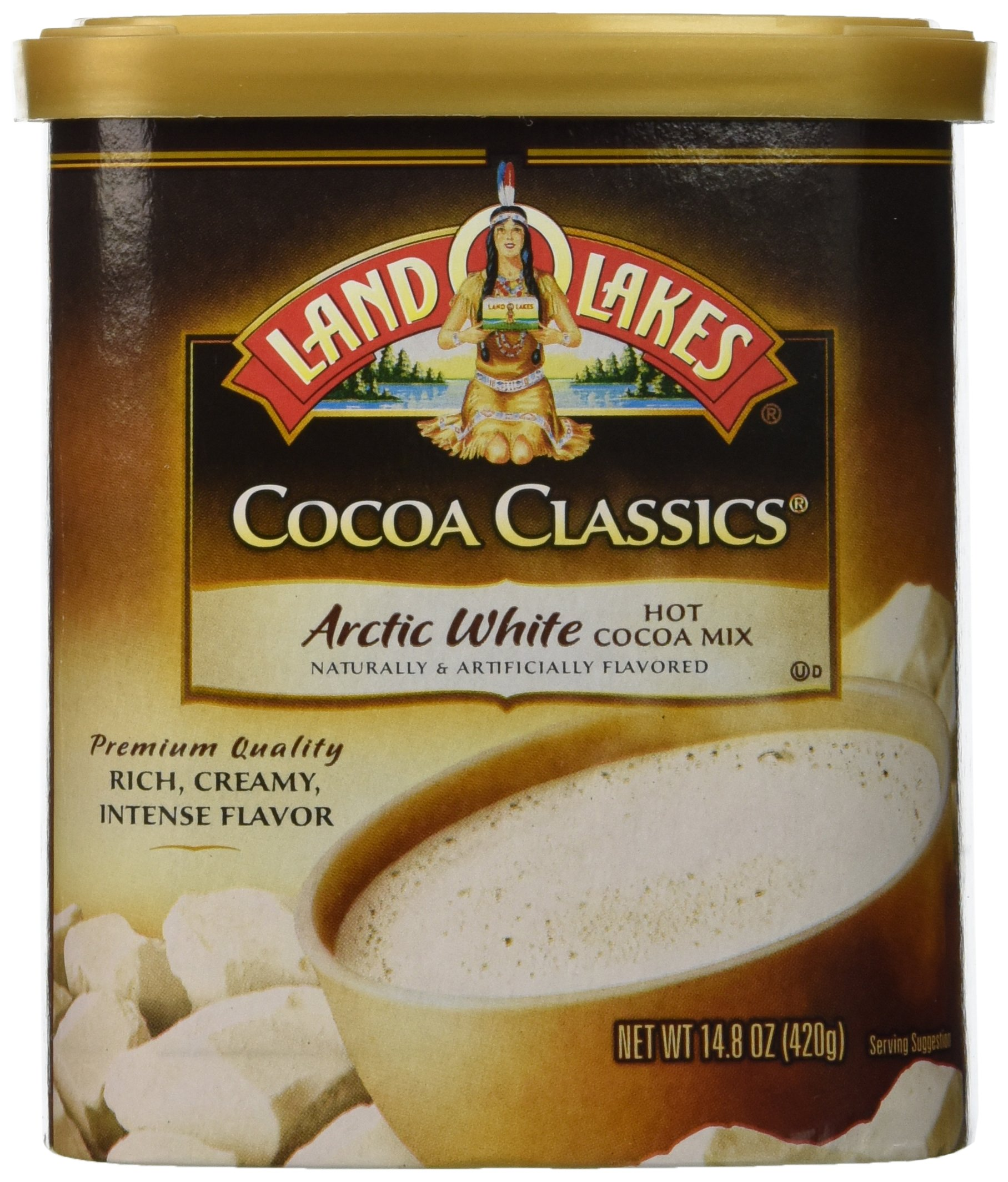 Land O'Lakes Hot Cocoa Classics Mix: Arctic White 14.8 ounce (2 Pack)