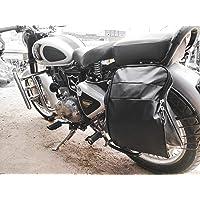 Travalate Polyester Waterproof Motorcycle Saddle Bag, Universal Side Bag/Saddle/Travel Bag/Carrier for All Bike (Black)