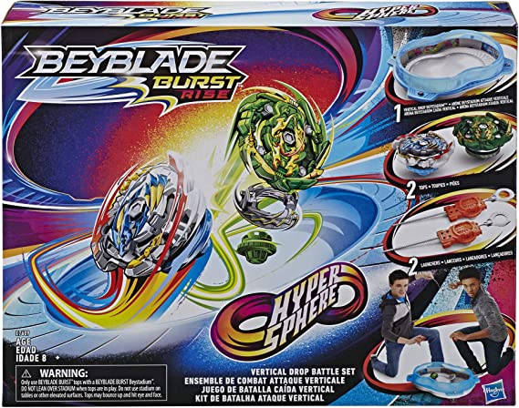 BEYBLADE Burst Rise Hypersphere Vertical Drop Battle Set -- Complete Set with Beystadium, 2 Battling Top Toys & 2 Launchers, Ages 8 & Up