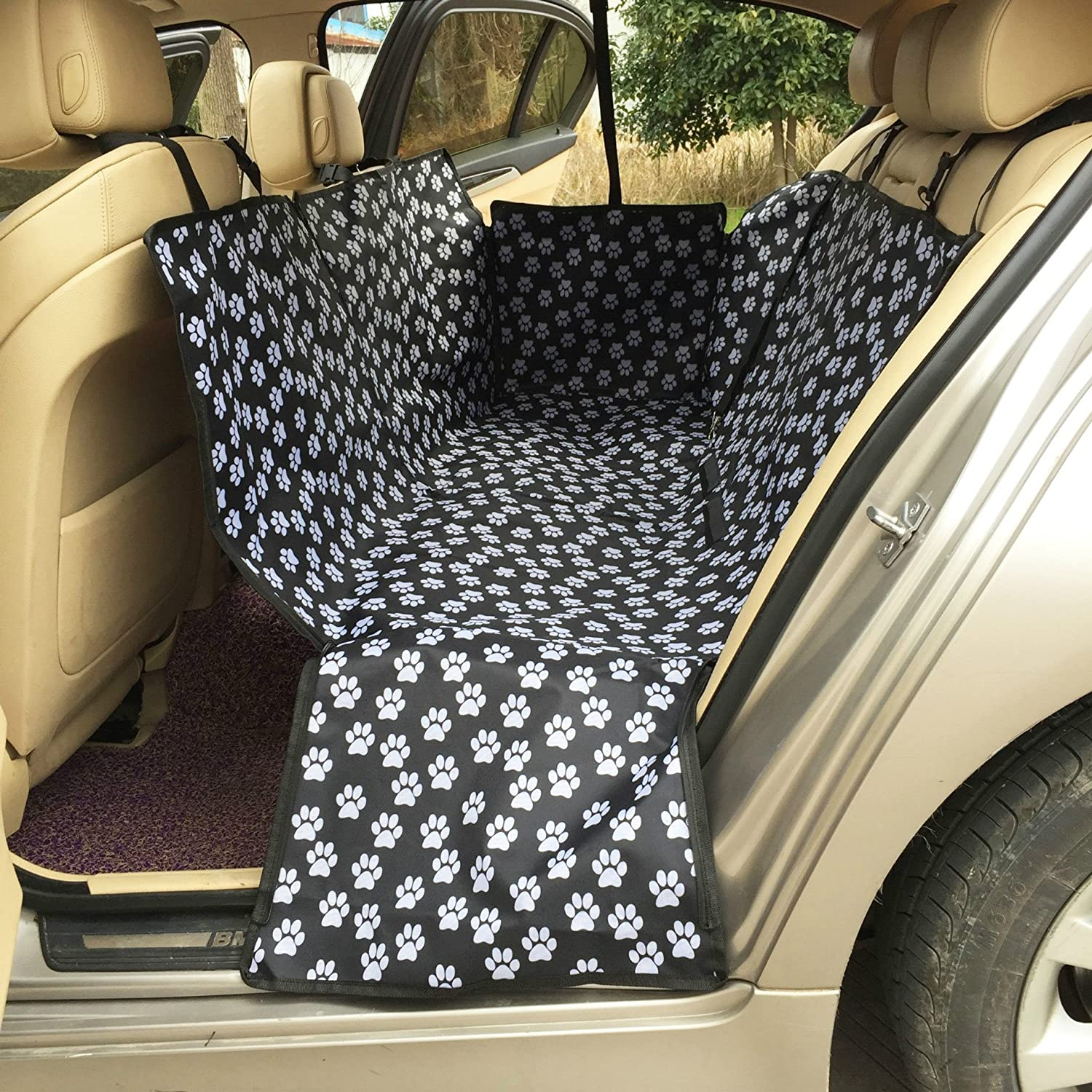 Waterproof & Nonslip Pet Car Back Seat Cover Hammock Bench Seat Predector For Most Cars