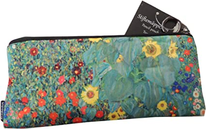 Fridolin - Estuche con diseño de «Jardín con girasoles» de Klimt: Amazon.es: Oficina y papelería