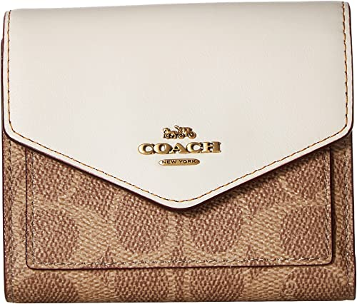 Amazon Com Coach Women S Small Wallet In Color Block Coated Canvas
