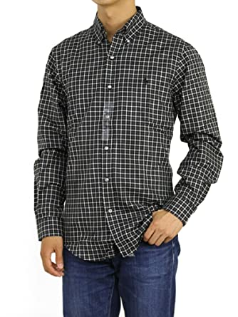 07a3a4854d6 Polo Ralph Lauren Slim Fit Black Check Shirt at Amazon Men s Clothing store