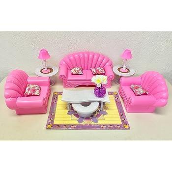 Gloria Barbie Size Dollhouse Furniture Living Room Set Toys Games