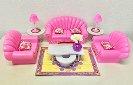 buy barbie size dollhouse furniture living room set online at low