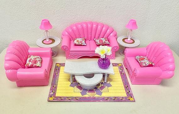Amazon.com: gloria Barbie Size Dollhouse Furniture - Living Room Set ...