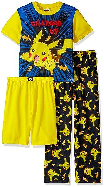 Amazon.com: Pokemon - Juego de 3 pijamas para niño con ...