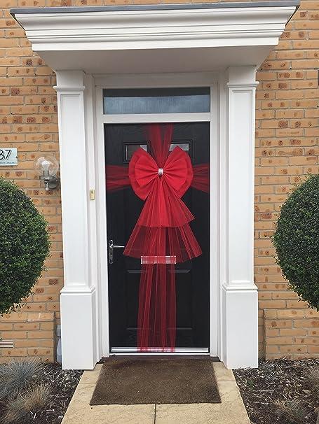 Door Bow Red with Diamante Centre & Door Bow Red with Diamante Centre: Amazon.co.uk: Kitchen u0026 Home