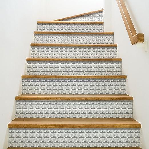 Playa Adhesivo para contremarches de escaleras, Vinilo, Gris, 100 x 0,1 x 19 cm: Amazon.es: Hogar