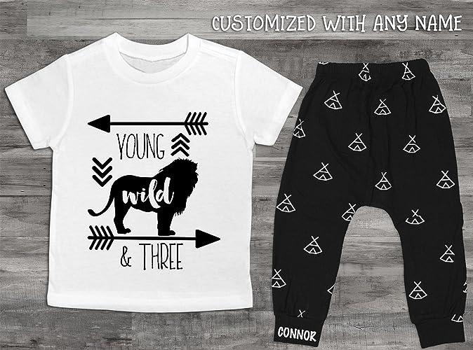 Amazon Baby Boy Clothes Young Wild And Three Birthday Shirt 3rd Set Third Lion Handmade