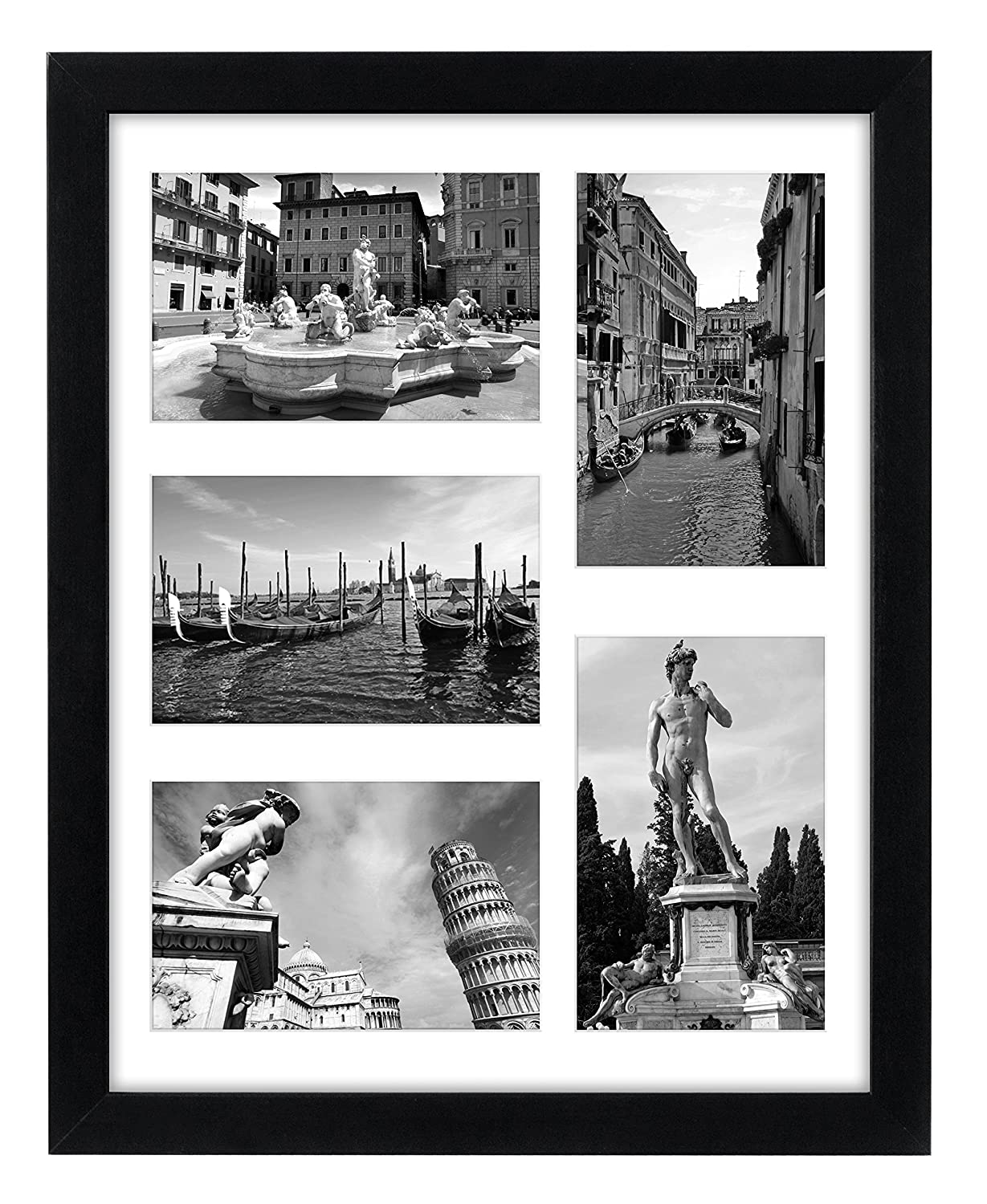 Amazon collage picture frame 11x14 displays five 4x6 inch amazon collage picture frame 11x14 displays five 4x6 inch pictures with mat and glass protection top selling multiple picture frame jeuxipadfo Images