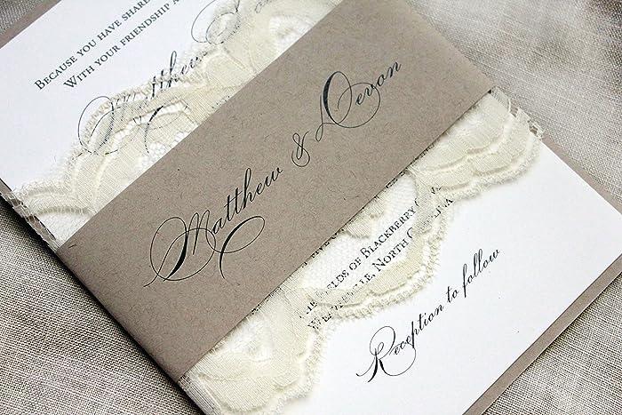 Amazon Com Elegant Wedding Invitations Country Lace Wedding Barn