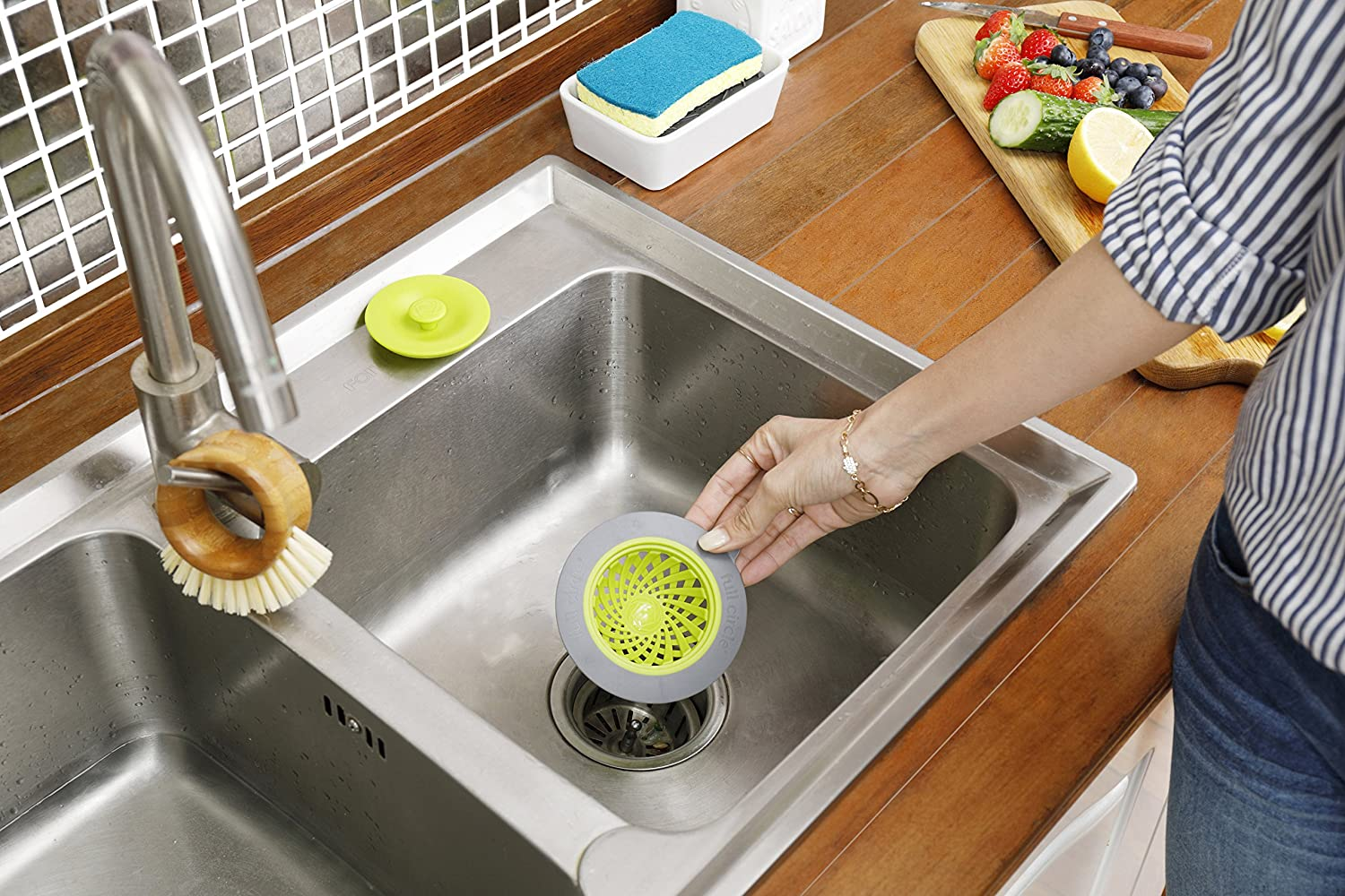 Amazon.com: Full Circle Sinksational Sink Strainer with Stopper ...