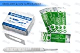 100 SCALPEL BLADES #20 PACK + SCALPEL HANDLE #4