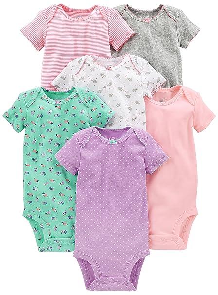 d7c8fc2ec5 Simple Joys by Carter s Baby Girls 6-Pack Short-Sleeve Bodysuit ...