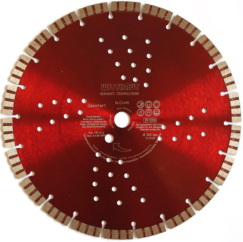 Rot WITTHAUT Diamantwerkzeug BLIZZARD Diamanttrennscheibe /Ø 300-20