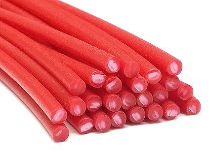 Alambre de soldadura de plástico PE-HD 4mm Redondo Rojo (RAL3020) HDPE 25