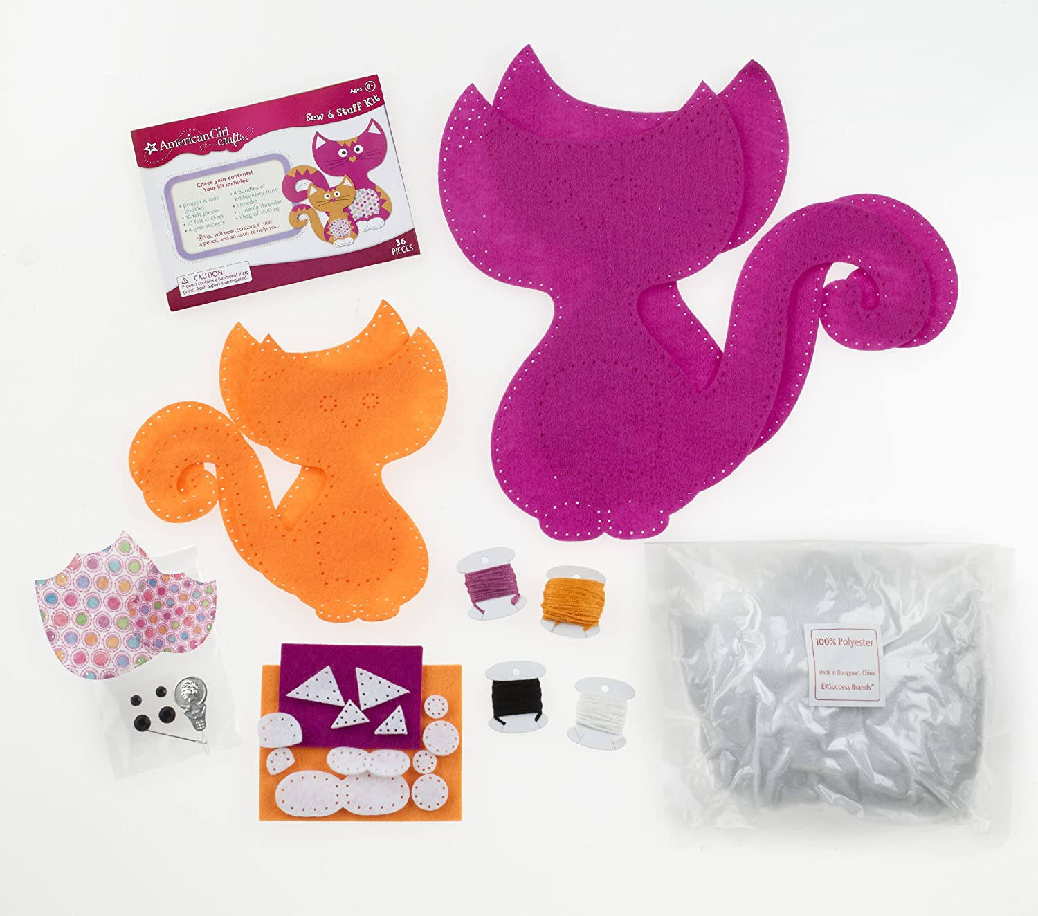 American Girl Crafts Cat Sew and Stuff Activity Kit DIY Cat Stuffed Animals CSS Industries Inc and its affiliates 30-677395