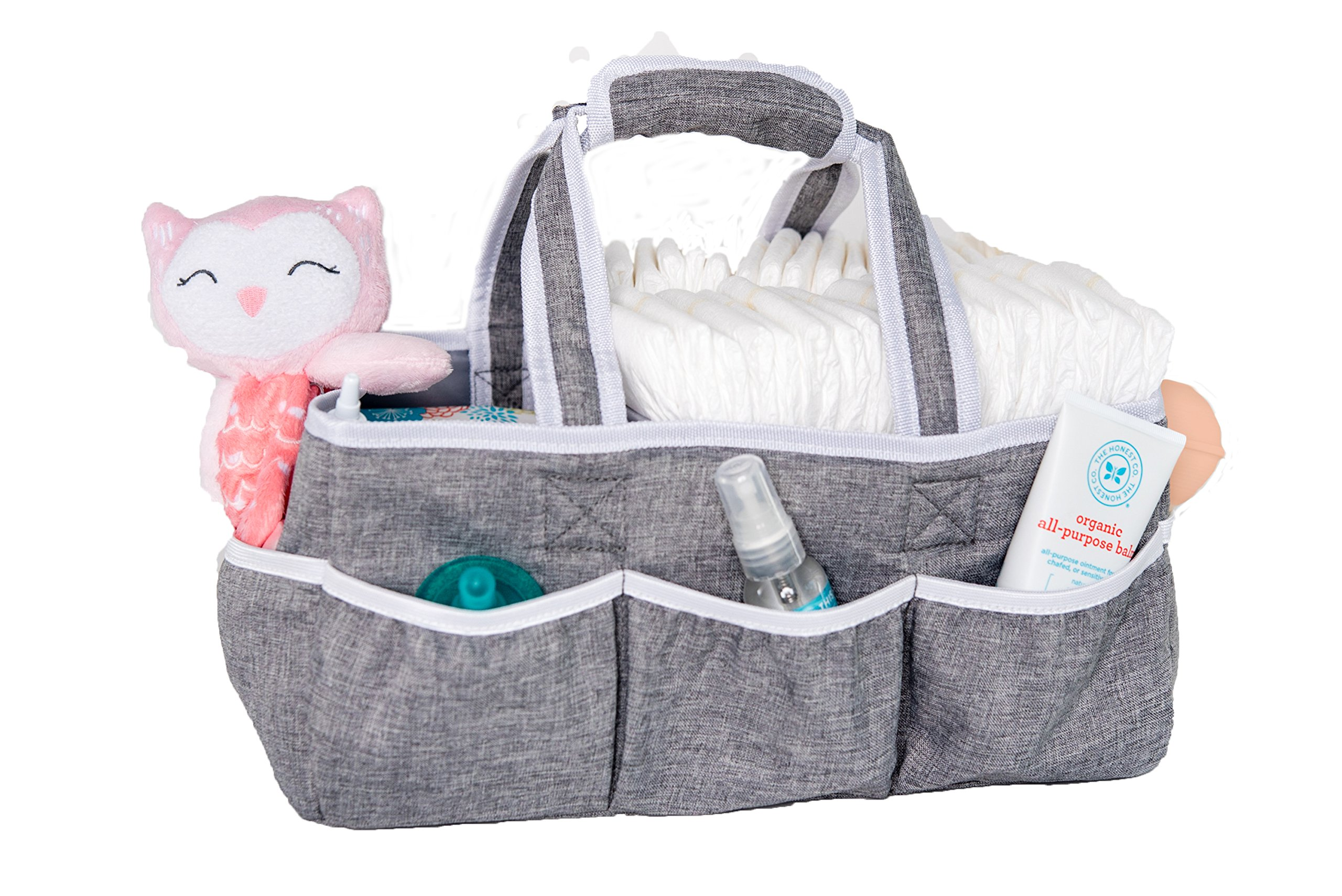 Wallaby Diaper Caddy Storage Bin - Organizer for Diapers, Wipes, Baby Bottles and More. Great for Home, Car, Travel or a Baby Shower Gift. by Bed Buddy (Image #2)