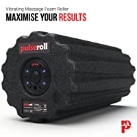 Pulseroll Vibrating Foam Roller for Deep Tissue Muscle Massage - Myofascial Fast Pain Release And Tight Muscles - Lightweight 1 Kilo Cylinder Roll of Foam - Ideal for Back, Calf, Legs, Body, Exercise, Stretches, Fitness, Crossfit, Yoga, Gym