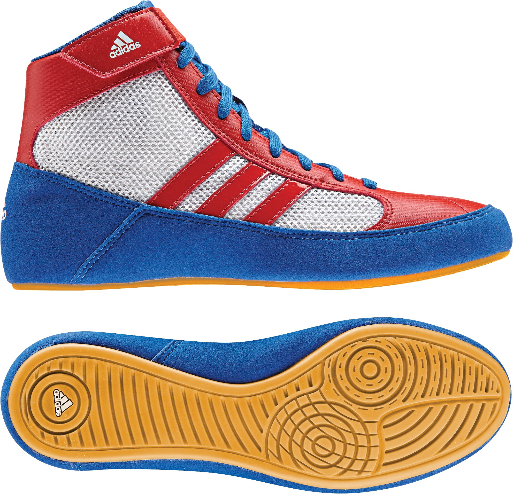 Adidas HVC 2 Wrestling Shoe, Blue/Red/White, 11.5 M US