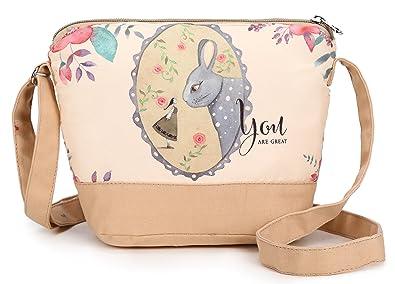 Crest Design Cute Canvas Crossbody Bag Shoulder Bag Purse for Girl ...