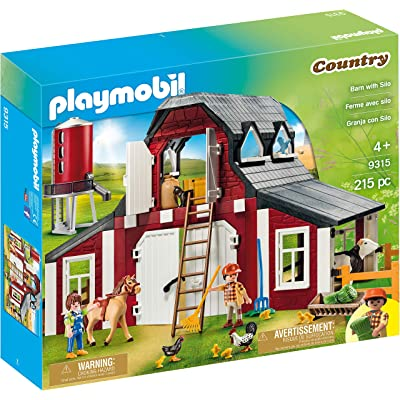 PLAYMOBIL Barn with Silo: Toys & Games