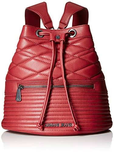 da09a94ee98c Armani Jeans Quilted Eco Leather Bucket Backpack