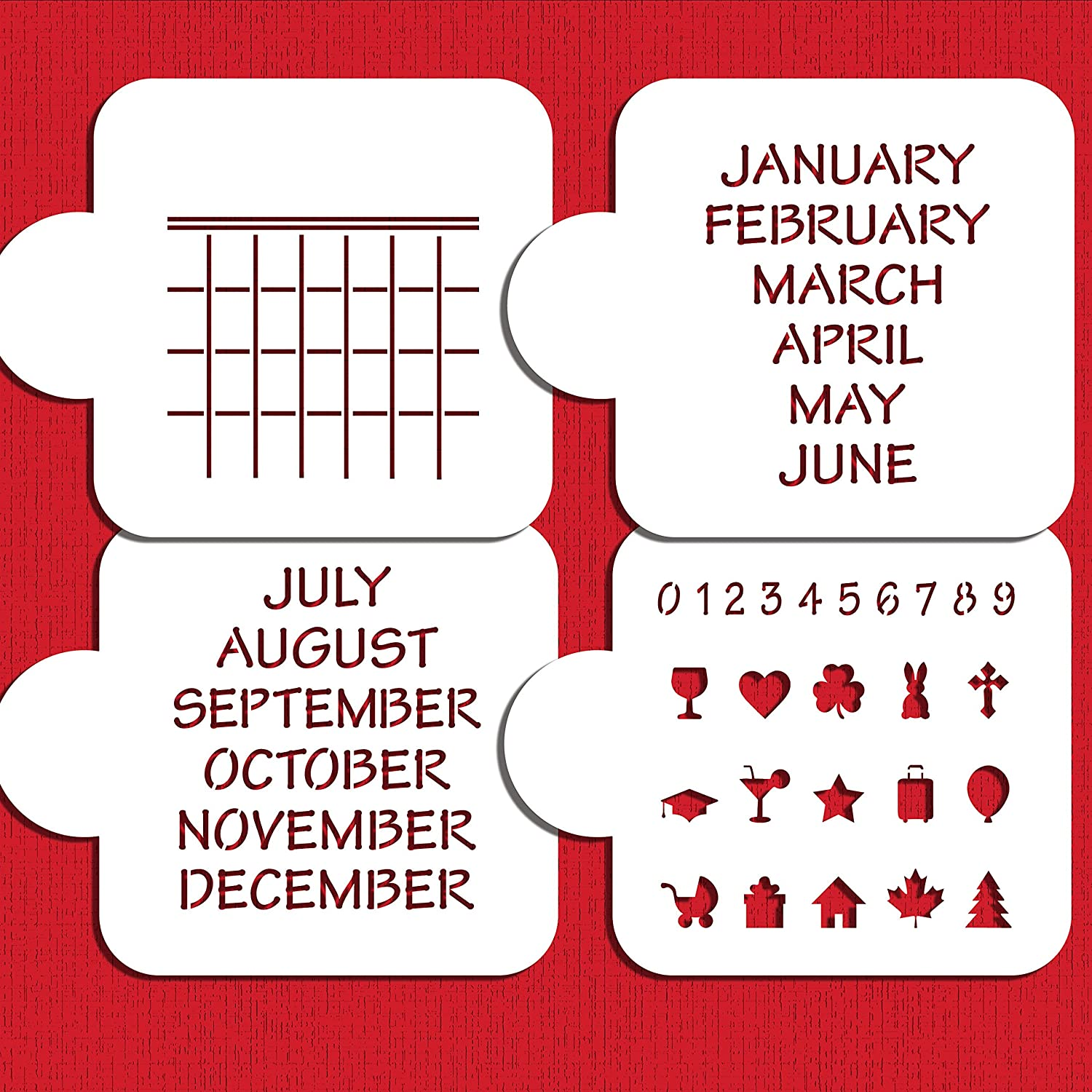 Ahorrar la fecha calendario Cookie Stencil Set C1023 by Designer ...