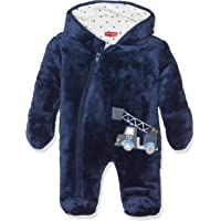 SALT AND PEPPER Baby-Jungen Strampler Nb Jumpsuit Fun Time Plüsch