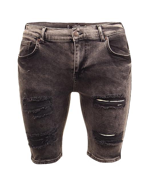 Mens Siksilk accessori e itAbbigliamento JeansAmazon Black Shorts Blue XuwOkiPZT