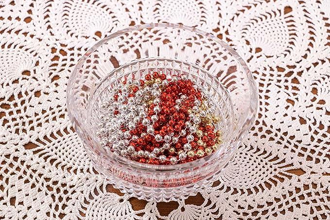 Clever Creations - Guirnalda de Cuentas de Navidad - Perlas de 8 mm Brillantes a Prueba de Golpes - Estilo Tradicional - Dorado - 2,7 m: Amazon.es: Hogar