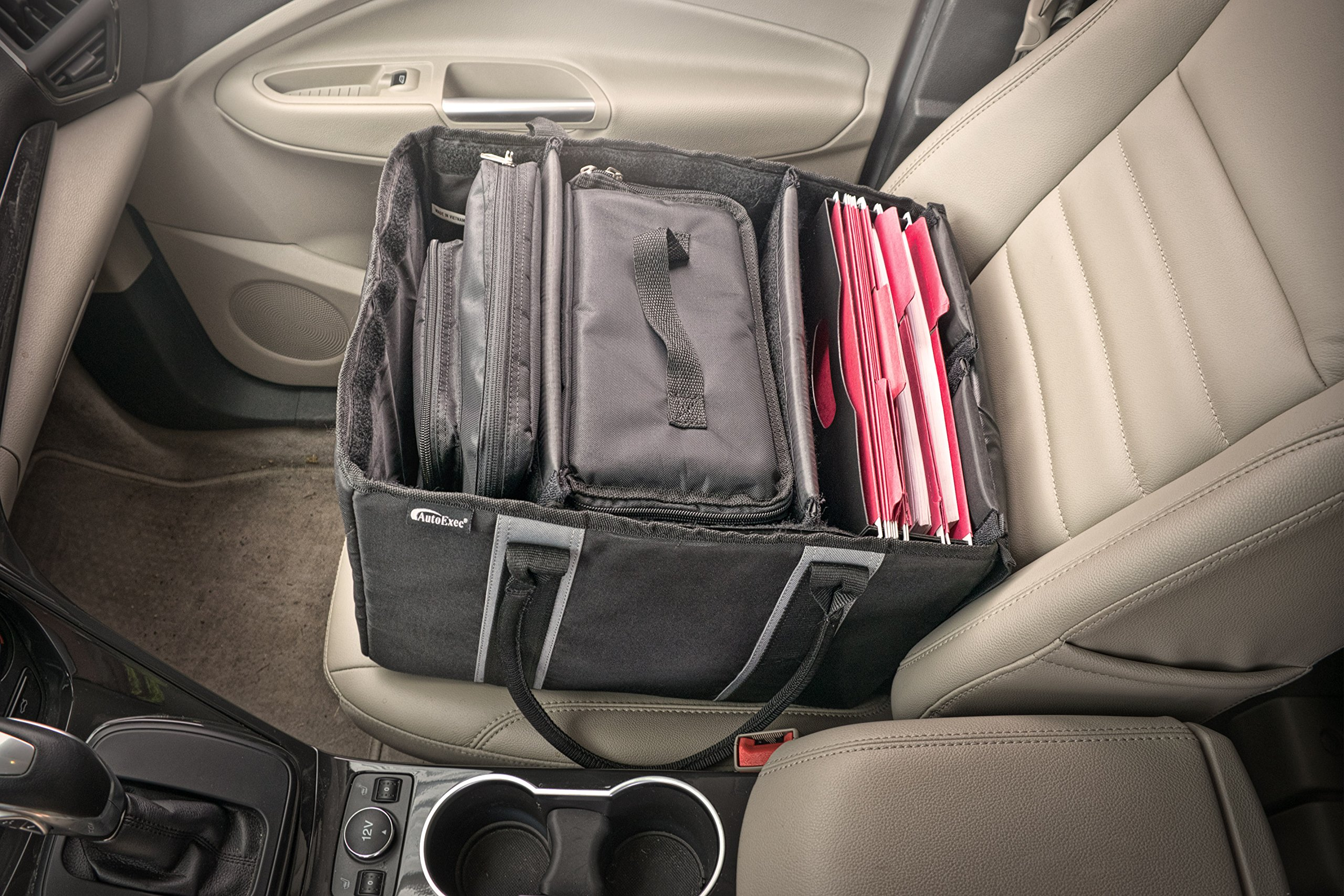 AutoExec AETote-09 Black/Grey File Tote with One Cooler and One Tablet Case by AutoExec (Image #16)