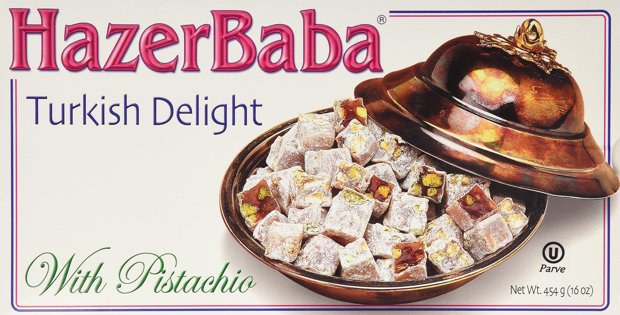 Hazer Baba Turkish Delight With Pistachio, 16oz