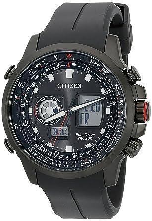 amazon com citizen eco drive men s promaster analog digital watch citizen eco drive men s promaster analog digital watch black silicone band model